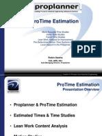 ProTime Estimation - Modern Time & Motion Study - 102012