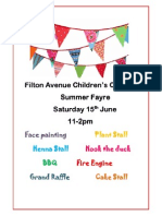 Filton Avenue Childrens Centre Summer Fayre Poster