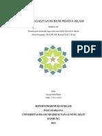 Asas Legalitas Hukum Pidana Islam