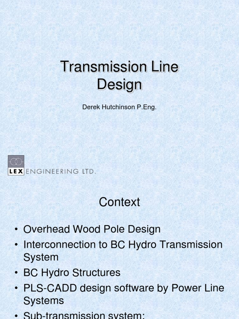 DesiGN | Electric Power Transmission | Electricity