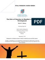 The Role of Churches in the Namibian Economy [2012]