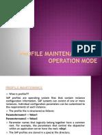 Profile Maintenance and Operation Mode