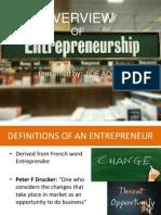 Overview of Entrepreneurship 1