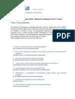 ISBTT - Think Tanks Contributions PRESS[1]