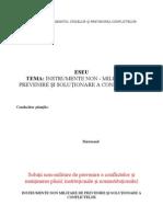INSTRUMENTE NON MILITARE DE PREVENIRE ŞI COM BATERE A CONFLICTELOR 1