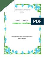 PROIECT TEMATIC-ZÂMBETUL PRIMĂVERII
