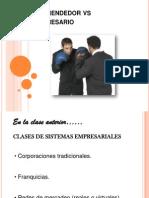 Empresario vs Emprendedor