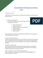 Team Knox Recruitment for Baja Sae India 2014