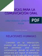 Técnicas para la comunicación oral por Leidy Johanna