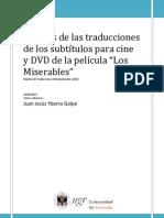 """Análisis de las traducciones de los subtítulos para cine y DVD de la película """"Los Miserables"""""""