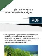 morfología , fisiologia y taxonomia de las algas.pptx