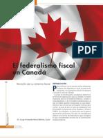 EL FEDERALISMO FISCAL EN CANADÁ AGO 2009