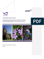 Sustainability Appraisal of Draft Local Plan - Non-Technical Summary Draft (AMEC 2013-04)