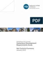 Canterbury Development Requirements Study Summary (NLP 2012-01)