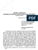 Alessandro Portelli - Sonhos Ucrônicos