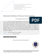 10 Mathematical Modeling of Thin Layer Drying of Shrimp