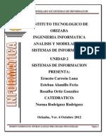 Analisis y Modelado de Sistemas de Informacion Unidad 2 1 Trabajo