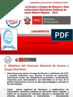 Concurso Directores y Subdirectores - 2013