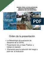 Evaluacion Economica Por Desastres Naturales PDF