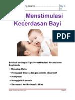 Tips Menstimulasi Kecerdasan Bayi Ok