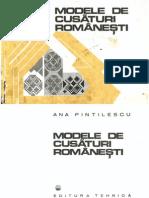 Modele de Cusaturi Romanesti Ana Pintilie Ed. Tehnica 1977