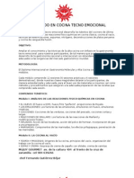 Diploma Internacional en Gastronomía Molecular y Alta Cocina