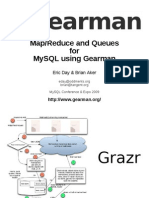 Map/Reduce and Queues for MySQL Using Gearman