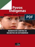 Povos Indígenas - Manifesto contra os  decretos de extermínio
