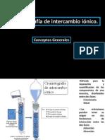 Cromatografía de intercambio ionico