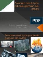 Poluarea Aerului Prin Produsele Gazoase Ale Adrerii-Chimie