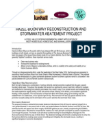 Hazel-Boon Way Reconstruction & Stormwater Management Project - Overview