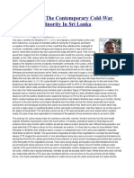 Post-War and the Contemporary Cold-War Against the Minority in Sri Lanka