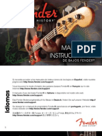 Fender BassGuitars Manual (2011) Spanish