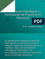 Planificación Estratégica y Formulación de Proyectos en Educ