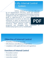 Section X 185- Internal Control System