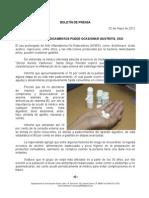 02/05/12 Germán Tenorio Vasconcelos Exceso de Medicamentos Puede Ocasionar Gastritis, Sso