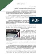 03/05/12 Germán Tenorio Vasconcelos imparte Sso Taller Para Prevenir La Violencia Infanto-juvenil