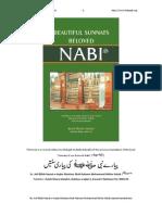 Beautiful Sunnah of Beloved Nabi (Saw)