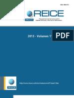 Revista Iberoamericana sobre Calidad, Eficacia y Cambio en Educación Volumen 1 2013