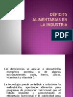 Deficiencias Alimentarias en La Industria
