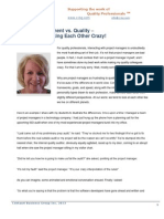 Project Management vs Quality –