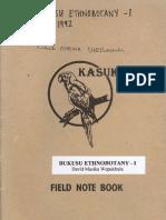 Bukusu Ethnobotany - I