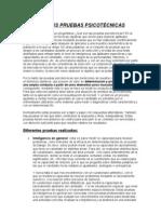 ANÁLISIS de PRUEBAS PSICOTÉCNICAS