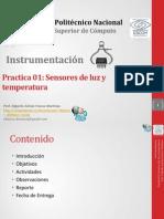 Practica 01 Sensores de Luz y Temperatura