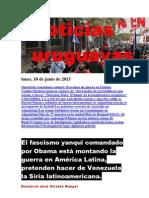 Noticias Uruguayas Lunes 10 de Junio Del 2013