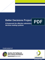 Better Decisions Project Framework Report-Management project reference