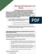Régimen General del Impuesto a la RentaUUUUUUUUU