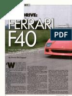 Ferrari F40 Drive