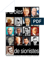 Paroles de Sionistes
