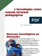 Nuevas tecnologías como nuevos recursos pedagógicos